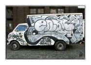 Graffiti Truck card+lightness